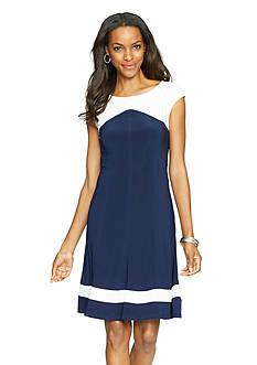 American Living™ Two-Toned Jersey Dress