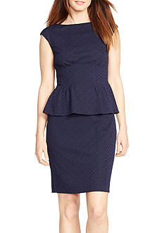 American Living Jacquard Peplum Dress