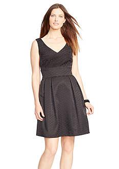 American Living™ Polka-Dot Jacquard Dress