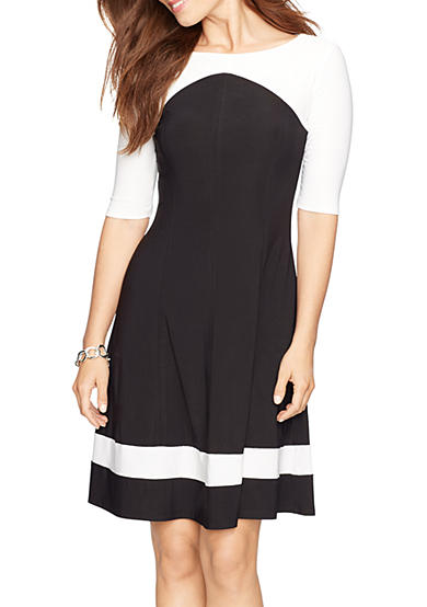 American Living™ Color-Blocked Jersey Dress