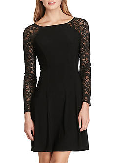 American Living™ Lace-Sleeve Jersey Dress