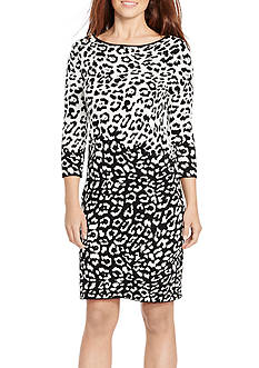 American Living™ Animal-Print Sweater Dress