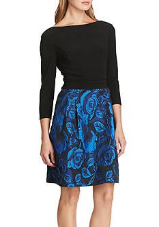 American Living™ Mixed-Media Floral Dress