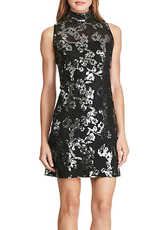 American Living™ Sequined Jacquard Dress