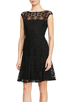 American Living™ Lace Fit-and-Flare Dress