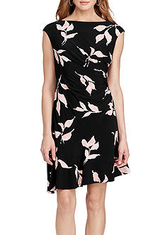 American Living™ Leaf-Print Jersey Dress