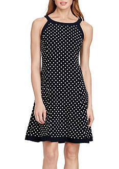 American Living™ Polka-Dot Jersey Dress