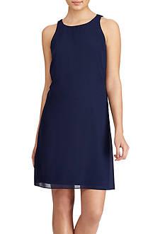 American Living™ Georgette Twist-Back Dress