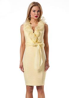 NUE by Shani™ Ruffle Neck Sheath Dress