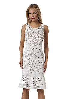 NUE by Shani™ Laser Cut Sheath Dress