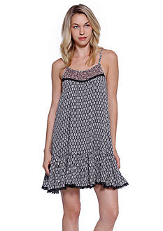 Taylor & Sage Mix Print Ruffle Hem Dress