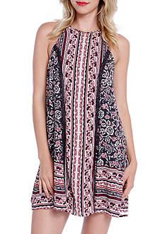 Taylor & Sage High Neck Printed Swing Dress