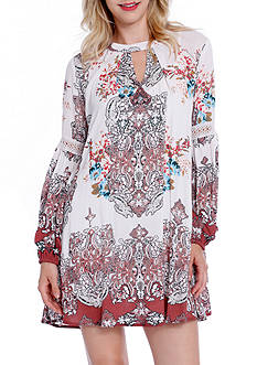 Taylor & Sage Floral Keyhole Swing Dress