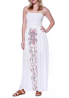 Taylor & Sage Maxi Smock Tube Front Printed Dress