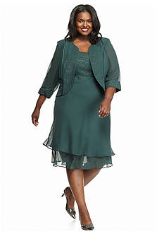 Maya Brooke Plus Size Jacket Dress