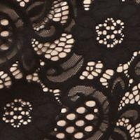 Grey Dress: Black/Nude Robbie Bee Lace Sheath Dress