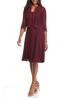 Robbie Bee Crochet Lace Jacket Dress