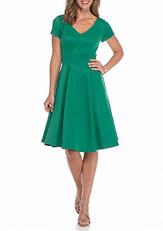 Robbie Bee Fit and Flare Scuba Dress