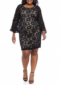 Robbie Bee Plus Size Lace Sheath Dress