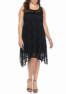 Robbie Bee Plus Size Lace Shift Dress