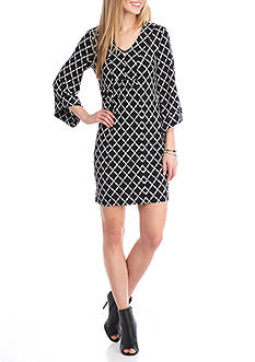 Robbie Bee Printed Jersey Shift Dress