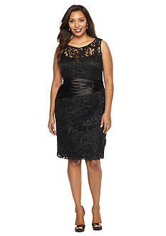 Marina Plus Size Lace Sheath Dress