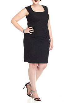 Marina Plus Size Sparkle Sheath Dress