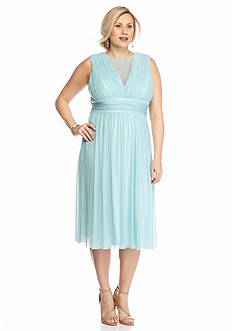 Marina Plus Size Chiffon Cocktail Dress