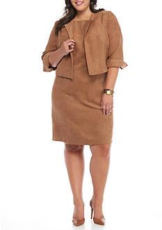 Danillo Boutique Plus Size Faux Suede Jacket Dress