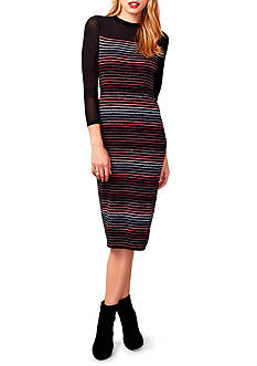 RACHEL Rachel Roy Striped Sweater Dress