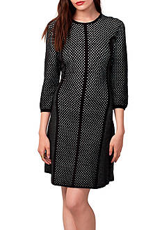 RACHEL Rachel Roy Jacquard Mesh Sweater Dress