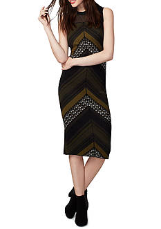 RACHEL Rachel Roy Chevron Tweed Sweater Dress