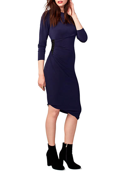 RACHEL Rachel Roy Bead Embellished Bodycon Sheath Dress