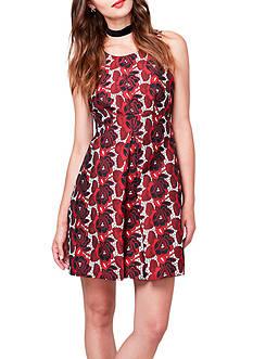 RACHEL Rachel Roy Floral Jacquard A-line Dress