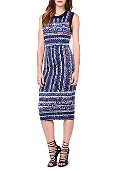RACHEL Rachel Roy Jacquard Stripe Sweater Dress