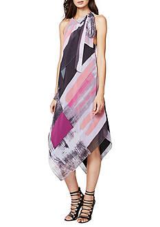 RACHEL Rachel Roy Brushed Square Printed Scarf Dress