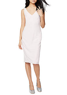 RACHEL Rachel Roy Seamed Crepe Midi Dress