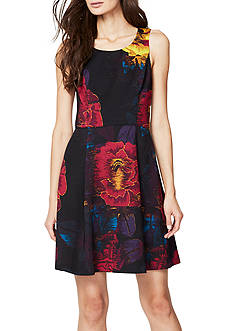 RACHEL Rachel Roy Floral Scuba Fit and Flare Dress