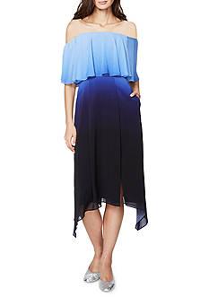 RACHEL Rachel Roy Off-the-Shoulder Ombre A-Line Dress