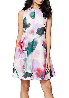 RACHEL Rachel Roy Taffeta Fit and Flare Dress