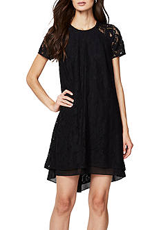 RACHEL Rachel Roy Cap Sleeve Lace Dress