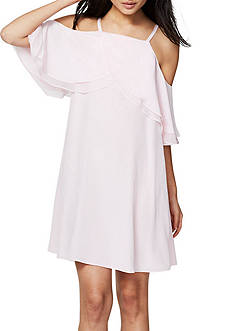 RACHEL Rachel Roy Woven Cold Shoulder Trapeze Dress