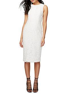 RACHEL Rachel Roy Lace Midi Sheath Dress