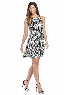 RACHEL Rachel Roy Printed Trapeze Dress