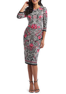 Beige by ECI Printed Sheath Dress