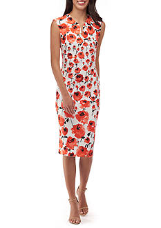 Beige by ECI Printed Sheath Dress