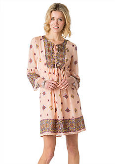 Beige by ECI Printed Empire Waist Dress