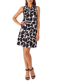 Beige by ECI Printed Shirt Dress
