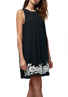Beige by ECI Sleeveless Embroidered Dress