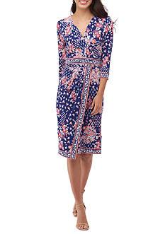 Beige by ECI Printed Wrap Dress